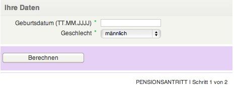 Pensionsantritt